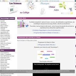Chimie 3ème - Sciences Physiques Collège Activités Cours TP