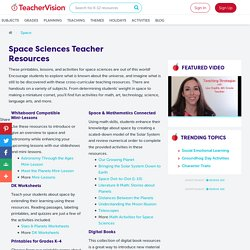 Space Sciences Printables, Activities, and Lessons