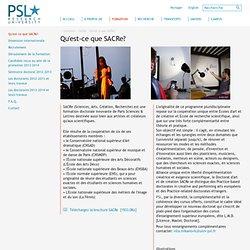 Qu'est-ce que SACRe? - SACRe - Paris Sciences et Lettres - PSL - Research University