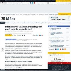 recherche et énarques à Sciences-Po