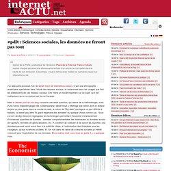 #pdlt : Sciences sociales, les données ne feront pas tout « Inte