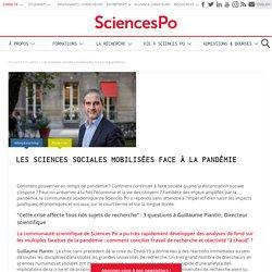 Les sciences sociales mobilisées face à la pandémie