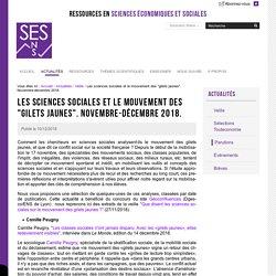 """Les sciences sociales et le mouvement des """"gilets jaunes"""". Novembre-décembre 2018."""