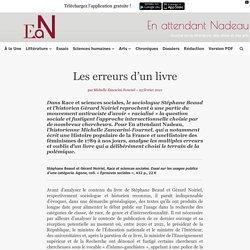 Race et sciences sociales, de Stéphane Beaud et Gérard Noiriel