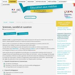 Sciences, société et curation
