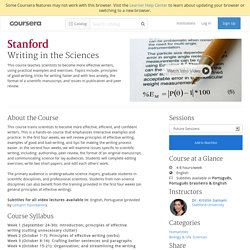 Writing in the Sciences - Stanford University