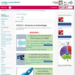 CYCLE 3 : Sciences et technologie - Technologie - COLLEGE LOUISE MICHEL
