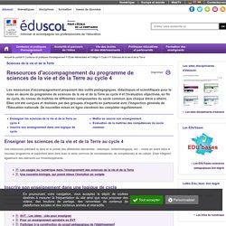 Sciences de la vie et de la Terre - Ressources SVT C4