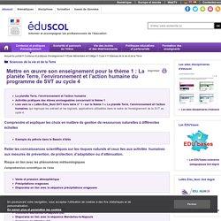 Sciences de la vie et de la Terre - Ressources SVT C4 - MOE T1