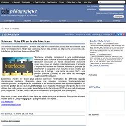 Sciences : Votre EPI sur le site Interfaces