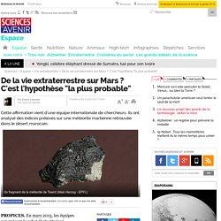 """De la vie extraterrestre sur Mars ? C'est l'hypothèse """"la plus probable""""- 3 décembre 2014"""