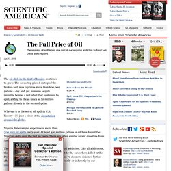 The Full Price of Oil: Scientific American Podcast