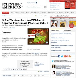 Scientific American Staff Picks: 10 Apps for Your Smart Phone or Tablet
