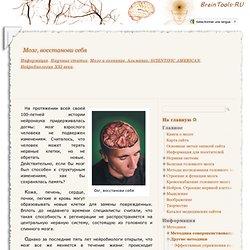 Мозг, восстанови себя. Научные статьи. Мозг и сознание. Альманах. SCIENTIFIC AMERICAN. Нейробиология XXI века.