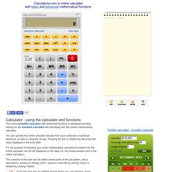 Online scientific calculator with tape - CALCULATORIA.com