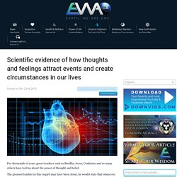 EWAO Scientific evidence of how thoughts and feelings attract events and create circumstances in our lives