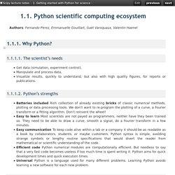 1.1. Python scientific computing ecosystem — Scipy lecture notes