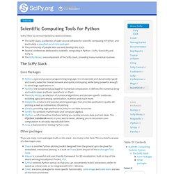 Scientific Computing Tools for Python — SciPy.org
