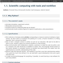 1.1. Scientific computing with tools and workflow — Scipy lecture notes