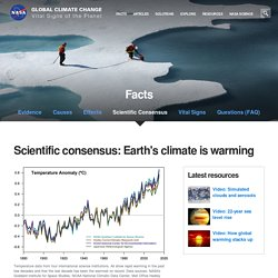 Climate Change: Vital Signs of the Planet: Consensus