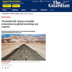 'No doubt left' about scientific consensus on global warming, say experts