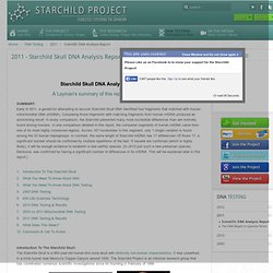 2011 Starchild Skull Preliminary DNA Report