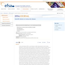 EFSA 13/01/15 Scientific Opinion on lumpy skin disease
