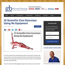 22 Core Exercises