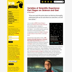 Varieties of Scientific Experience: Carl Sagan on Science and God