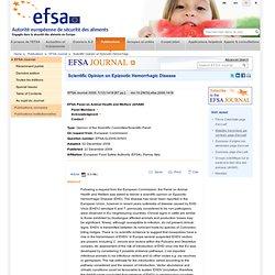 EFSA 22/12/09 Scientific Opinion on Epizootic Hemorrhagic Disease