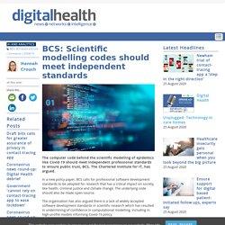 BCS: Scientific modelling codes should meet independent standards
