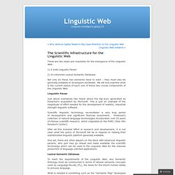 The Scientific Infrastructure for the Linguistic Web « Linguisti