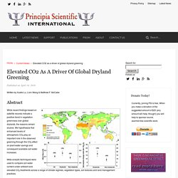 Elevated CO2 as a driver of global dryland greening - Principia Scientific International