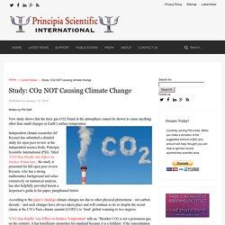 Study: CO2 NOT causing climate change - Principia Scientific International