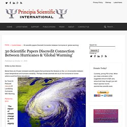 30 scientific papers Discredit Connection between Hurricanes & 'global warming' - Principia Scientific International