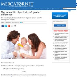 The scientific objectivity of gender difference