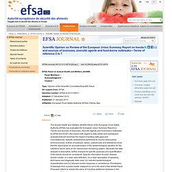 EFSA 21/01/13 AHAW review of the EU zoonoses report on trends and sources—TOR 2–7.