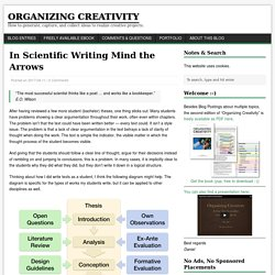 In Scientific Writing Mind the Arrows