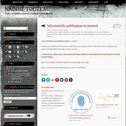 3rd scientific publication in Journal