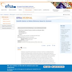 EFSA 09/10/14 Scientific Opinion on Dietary Reference Values for chromium