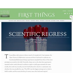 Scientific Regress by William A. Wilson