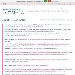 Scientific research on TPRS - TPRS Academy & The CI Bookshop