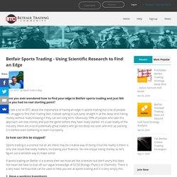 Sports Trading On Betfair By Betfair Trading Community