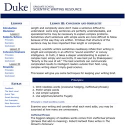 Lesson 3: Scientific Writing Resource - Duke University