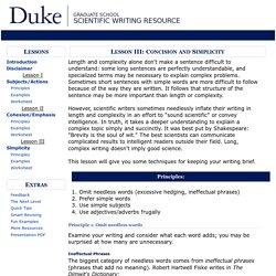 Lesson 3: Scientific Writing Resource - Duke University