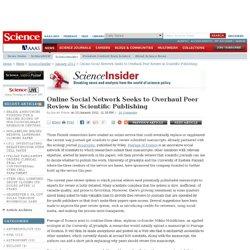 Online Social Network Seeks to Overhaul Peer Review in Scientific Publishing