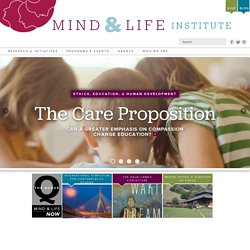 Mind & Life Institute — Building a scientific understanding of the mind to reduce suffering and promote well-being