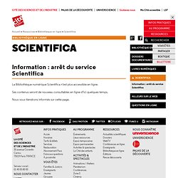 Scientifica - Cité des Sciences et de l'Industrie
