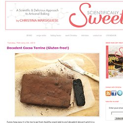 Decadent Cocoa Terrine (Gluten-free!)
