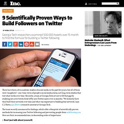 9 Scientifically Proven Ways to Build Followers on Twitter